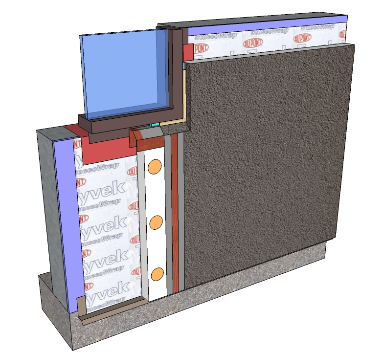 Division 7 systems master wall Direct applied exterior finish system