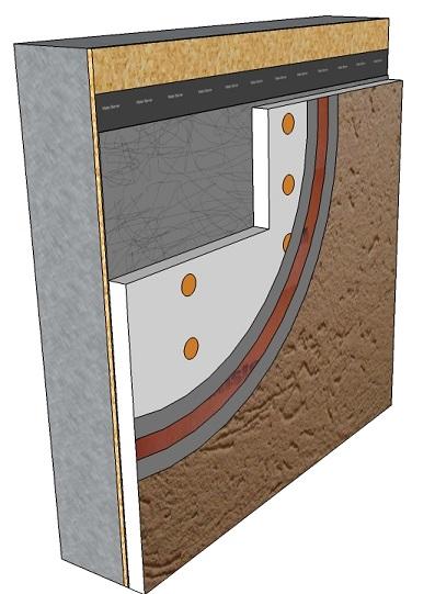 Exterior: Aggre-flex Drainage System